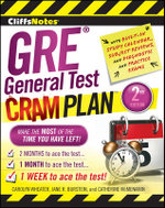 CliffsNotes GRE General Test Cram Plan : Cliffsnotes Cram Plan - Carolyn C. Wheater