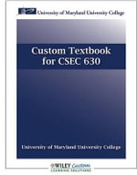 Custom Textbook for CSEC 630 - Hossein Bidgoli
