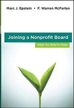 Joining a Nonprofit Board : What You Need to Know - F.Warren McFarlan
