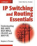 IP Switching and Routing Essentials : Understanding RIP, OSPF, BGP, MPLS, CR-LDP and RSVP-TE - Stephen A. Thomas