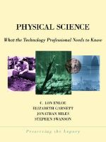 Integrated Chemistry and Physics : What the Technician Needs to Know - C. Lon Enloe