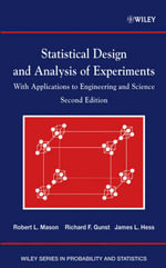Statistical Design and Analysis of Experiments : with Applications to Engineering and Science - Robert L. Mason