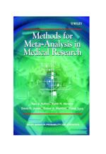 Methods for Meta-Analysis in Medical Research : Wiley Series in Probability and Statistics - Applied Probability and Statis - Alexander J. Sutton