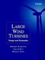 Large Wind Turbines : Design and Economics - Robert Harrison