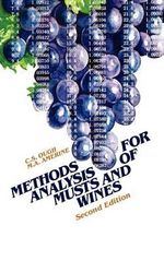 Methods for Analysis of Musts and Wines : An Introduction - Maynard Andrew Amerine