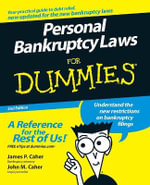 Personal Bankruptcy Laws For Dummies, 2nd Edition - James P. Caher
