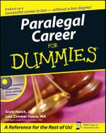 Paralegal Career For Dummies With CDROM - Scott Hatch