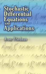 Stochastic Differential Equations and Applications - Avner Friedman