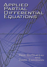 Applied Partial Differential Equations - Paul DuChateau