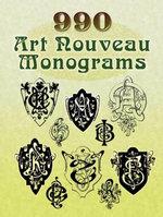 990 Art Nouveau Monograms - Dover