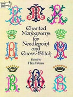Charted Monograms for Needlepoint and Cross-stitch : Dover Needlework Ser.