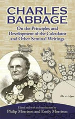 On the Principles and Development of the Calculator - Charles Babbage
