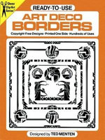 Ready-to-Use Art Deco Borders - Ted Menten