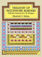 Treasury of Patchwork Borders : Full-Size Patterns for 76 Designs - Elizabeth Nyhan