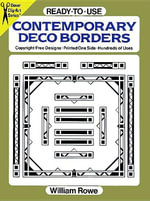 Ready-to-Use Contemporary Deco Borders - William Rowe