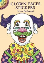 Clown Faces Stickers : Dover Little Activity Book - Nina Barbaresi