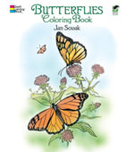 Butterflies Coloring Book : Dover Nature Coloring Book - Jan Sovak