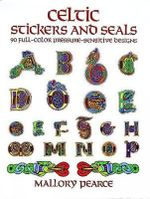 Celtic Stickers and Seals : 90 Full-Colour Pressure-Sensitive Designs - Mallory Pearce