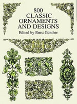 800 Classic Ornaments and Designs - Ernst Gunther