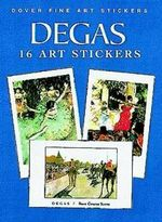 16 Fine Art Stickers : 16 Art Stickers - Edgar Degas