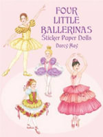 Four Little Ballerinas Sticker Paper Dolls : Stained Glass - Darcy May