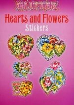 Glitter Hearts and Flowers Stickers - Joan O'Brien