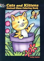 Cats and Kittens Stained Glass Coloring Book - Cathy Beylon
