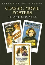 Classic Movie Posters : 16 Art Stickers