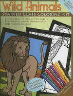 Wild Animals Stained Glass Coloring Kit - Not Available 