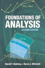Foundations of Analysis - David F. Belding