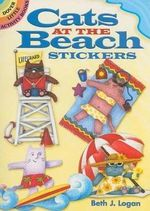 Cats at the Beach Stickers - Beth J. Logan