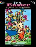 Happy Easter Stained Glass Coloring Book - Eileen Rudisill Miller