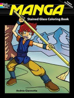 Manga Stained Glass Coloring Book - Andres B. Giannotta
