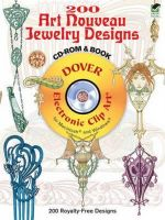200 Art Nouveau Jewelry Designs CD-ROM and Book - Clip Art