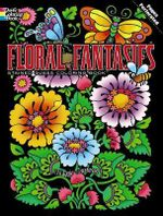 Floral Fantasies Stained Glass Coloring Book - Maggie Swanson