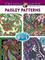 Creative Haven Paisley Patterns Coloring Book : 4 Books in 1 - Marty Noble