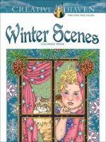 Creative Haven Winter Scenes Coloring Book - Marty Noble