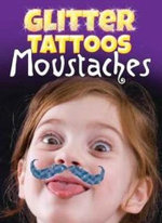Glitter Tattoos Moustaches - Dover