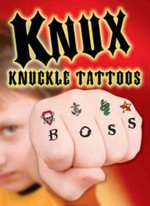 Knux -- Knuckle Tattoos for Boys : Dover Little Activity Books - Dover