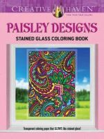 Creative Haven Paisley Designs Stained Glass Coloring Book - Marty Noble