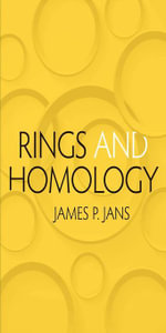 Rings and Homology - James P. Jans