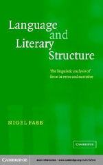 Language and Literary Structure - Nigel Fabb