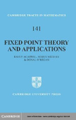Fixed Point Theory and Applications - Ravi P. Agarwal