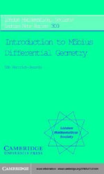 Introduction to Mobius Differential Geometry - Udo Hertrich-Jeromin