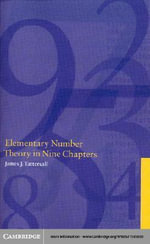 Elementary Number Theory in Nine Chapters, Second Edition - James J. Tattersall