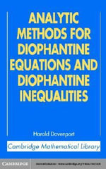 Analytic Methods for Diophantine Equations and Diophantine Inequalities - H. Davenport
