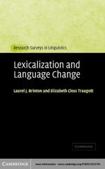 Lexicalization and Language Change - Laurel J. Brinton