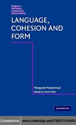Language, Cohesion and Form - Margaret Masterman
