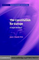 The Constitution for Europe - Jean-Claude Piris