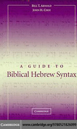 A Guide to Biblical Hebrew Syntax - Bill T. Arnold